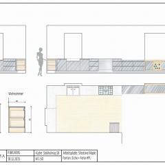 design kitchen Fenix hpl sketch