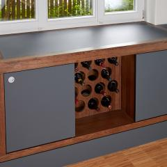 design kitchen Fenix hpl vine cabinet