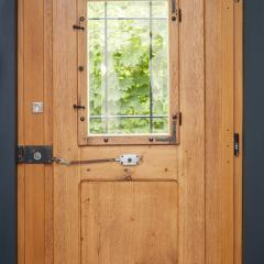 historic restored oak entrance door 1