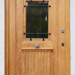 historic restored oak entrance door 2