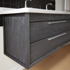 cabinet for Duravit Starck sink aged pine drawers